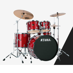 Shop online for Tama IP52KCCPM 5 Piece Imperialstar Drum Kit Candy Apple Mist w/Cymbals today.  Now available for purchase from Midlothian Music of Orland Park, Illinois, USA