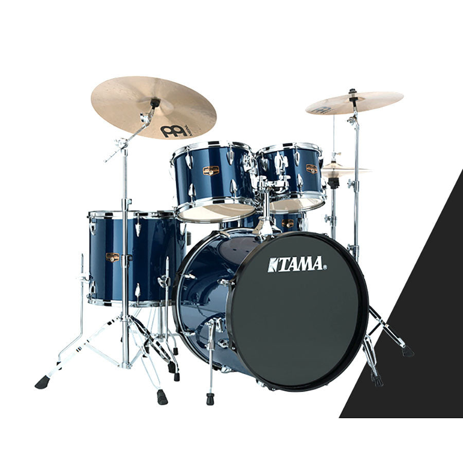 tama ip52kcmnb 5 pc imperialstar drum kit midnight blue w cymbals midlothian music. Black Bedroom Furniture Sets. Home Design Ideas