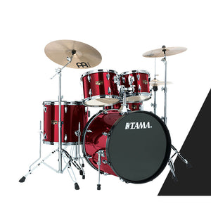 Tama IP52KCVTR 5-pc Imperialstar Drum Kit Vintage Red w/Cymbals