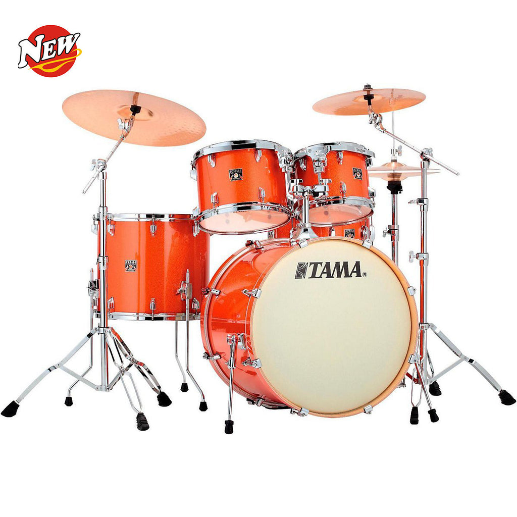 Tama Superstar CK52KSBOS Classic 5-pc Maple Shell Kit - Bright Orange Sparkle