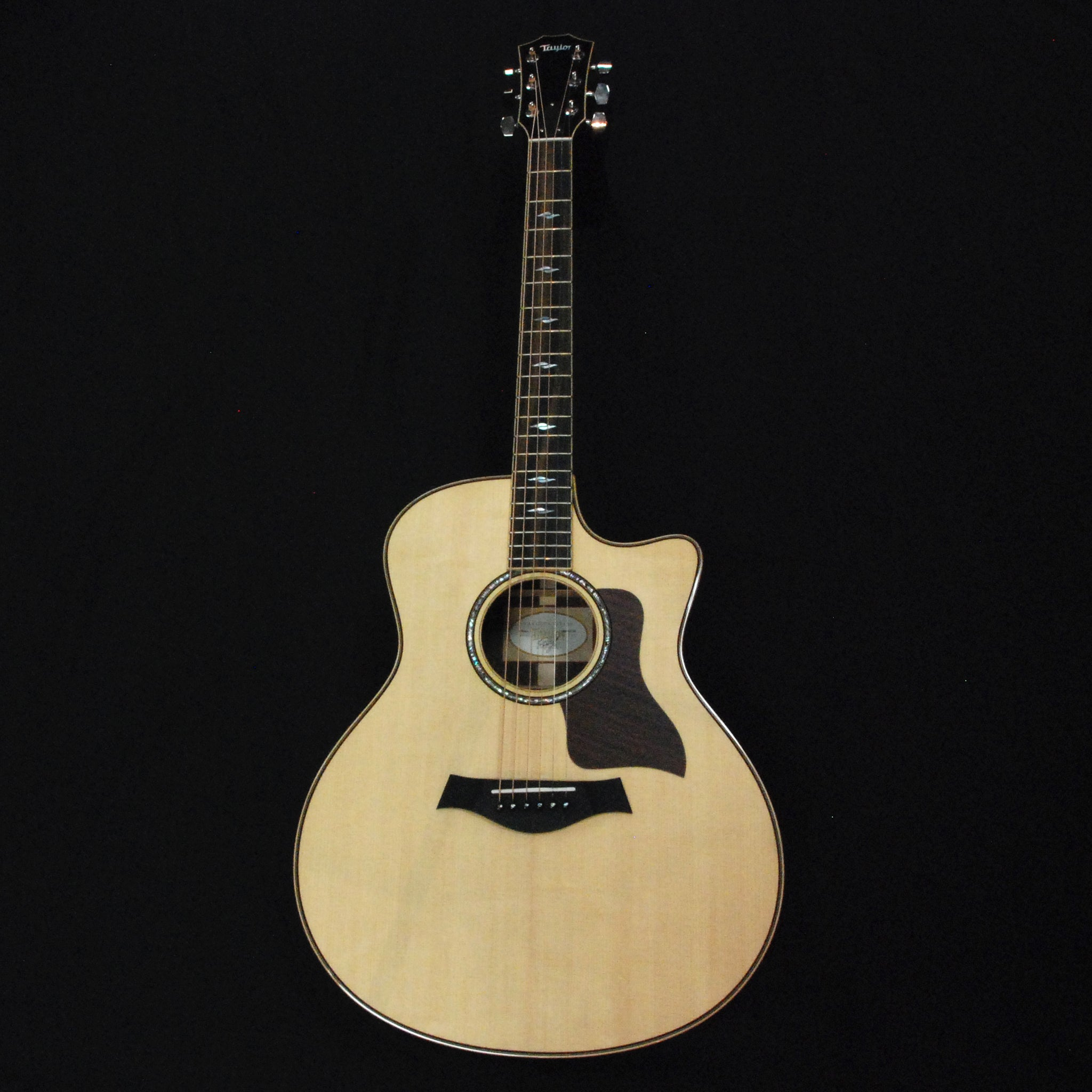 Shop online for Taylor 816ce Grand Symphony Cutaway Solid Wood Acoustic/Electric Guitar Natural today.  Now available for purchase from Midlothian Music of Orland Park, Illinois, USA