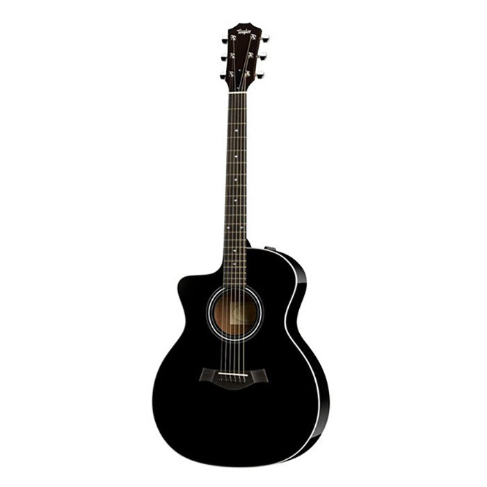 Taylor 214ce-BLK DLX Left Hand Grand Auditorium Cutaway Acoustic/Electric Guitar Black