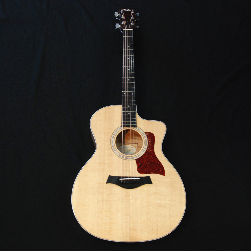 Taylor 214ce DLX Deluxe Grand Auditorium Acoustic/Electric Guitar Quilted Maple