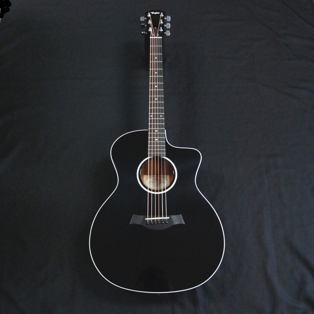 Taylor 214ce-BLK DLX Deluxe Grand Auditorium Cutaway Acoustic/Electric Guitar Black