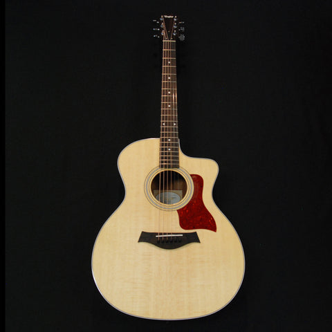 Shop online for Taylor 214ce Grand Auditorium Cutaway Acoustic/Electric Guitar Natural today.  Now available for purchase from Midlothian Music of Orland Park, Illinois, USA
