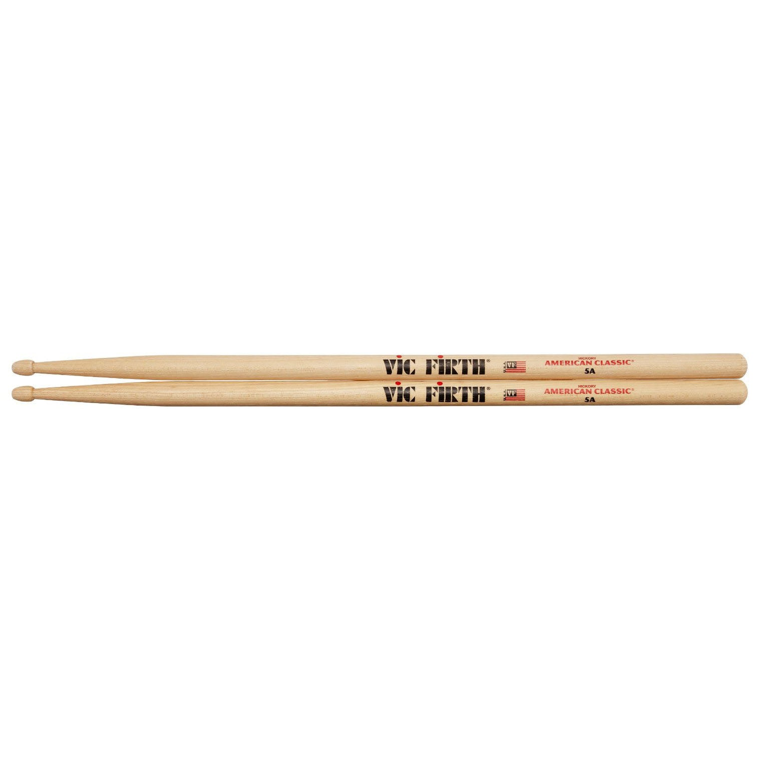 Shop online for Vic Firth American Classic Hickory Wood Tip 5A Drum Stick today.  Now available for purchase from Midlothian Music of Orland Park, Illinois, USA