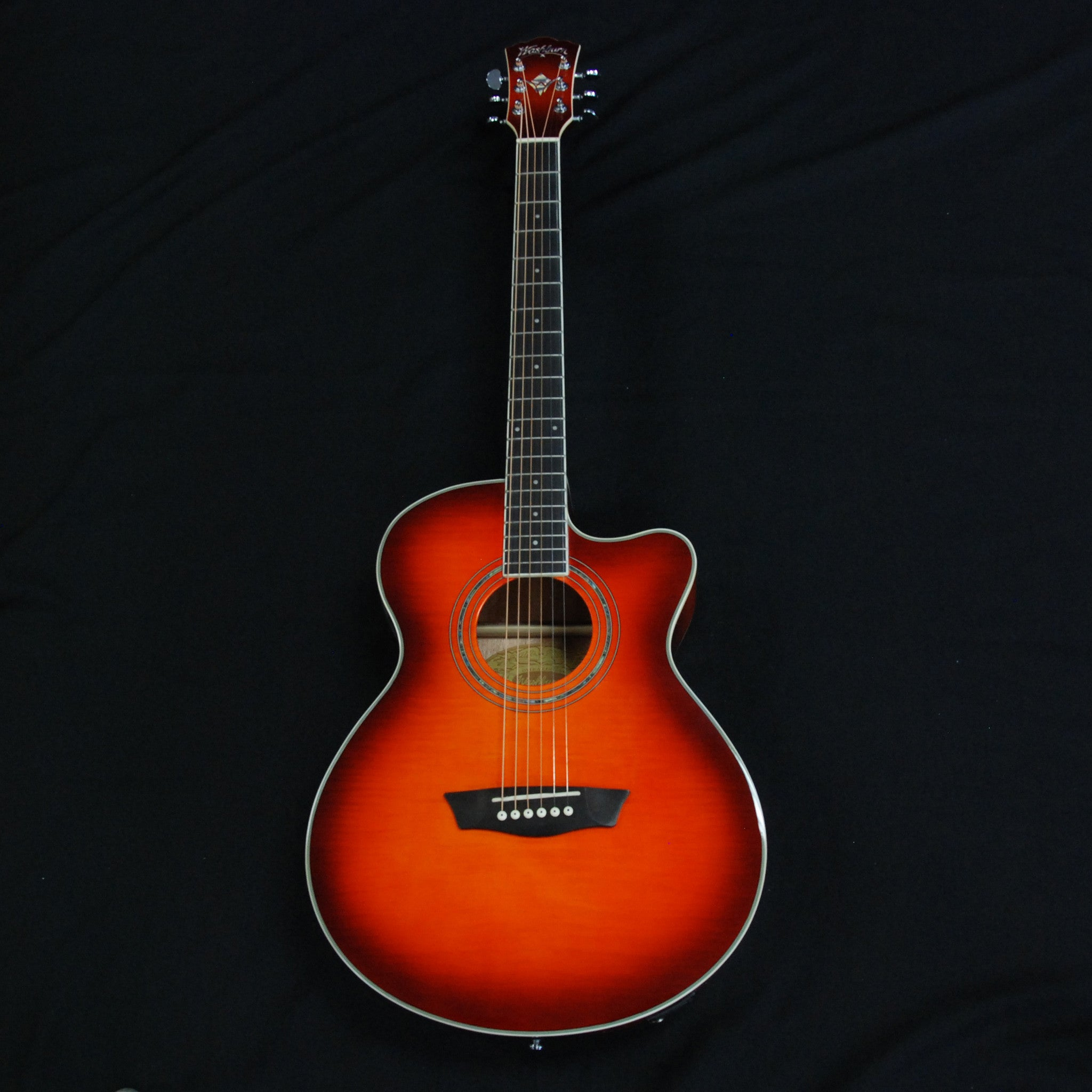 Shop online for Washburn EA15ITB Electric Mini Jumbo Acoustic Guitar Ice Tea Burst today. Now available for purchase from Midlothian Music of Orland Park, Illinois, USA