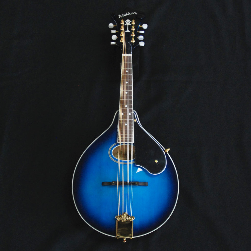 Washburn M1SDLTBL A Style Mandolin Transparent Blue