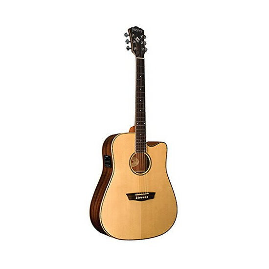 Washburn WD25SCE Dreadnought Cutaway Acoustic/Electric Guitar Natural
