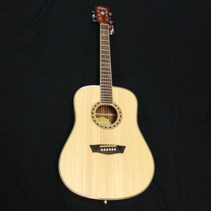 Washburn WD7S Dreadnought Acoustic Guitar Natural Gloss