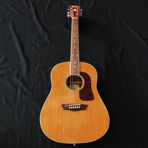 Shop online for Washburn WSJ60SKELITE Acoustic Guitar Solid Cedar/Cocobolo today.  Now available for purchase from Midlothian Music of Orland Park, Illinois, USA