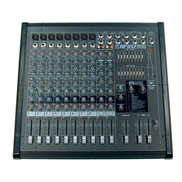 Yorkville AP812 Pro Audio 12 Channel Powered Mixer
