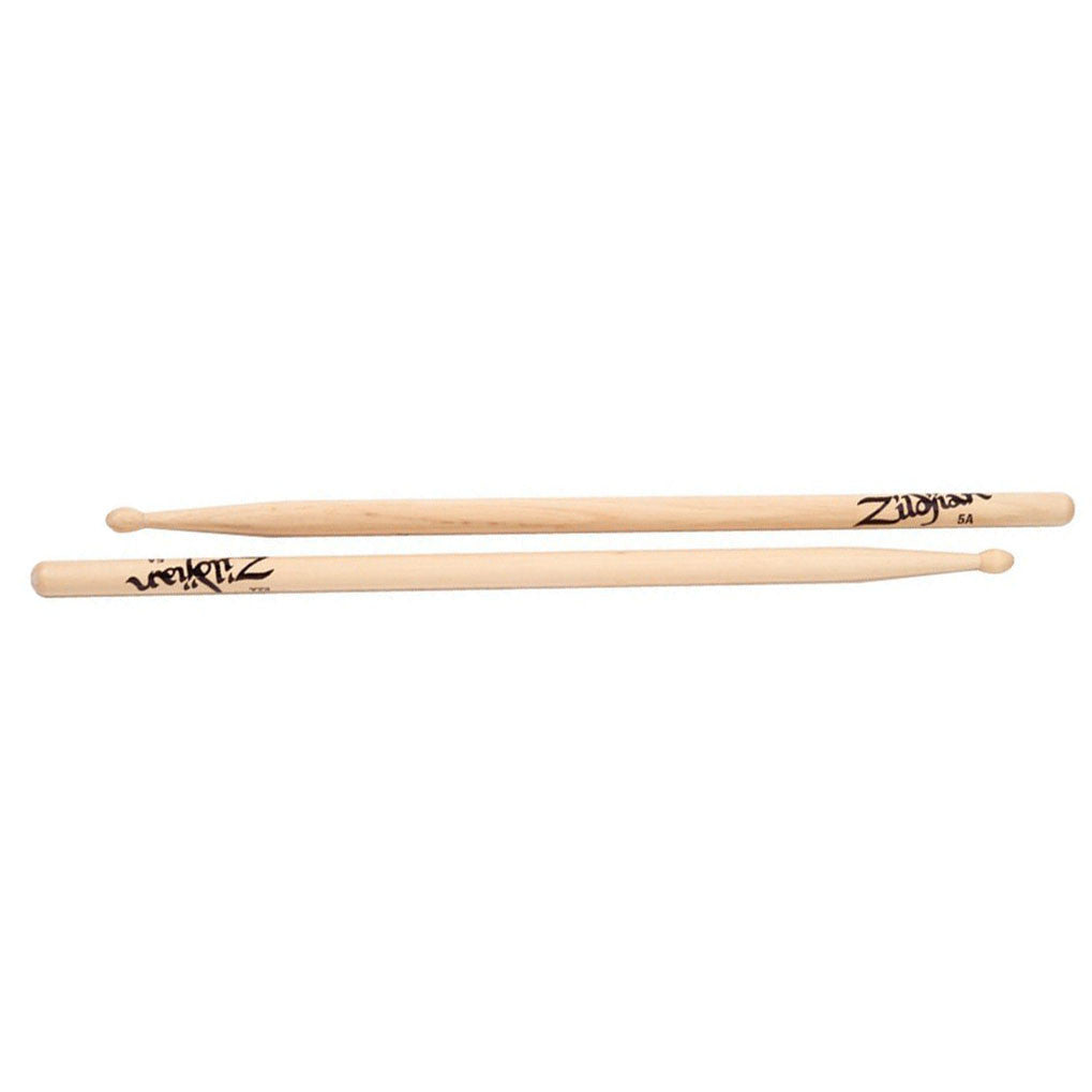 Zildjian 5A Wood Tip Hickory Drum Sticks