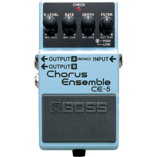 Shop online for Boss CE-5 Chorus Ensemble Pedal today.  Now available for purchase from Midlothian Music of Orland Park, Illinois, USA