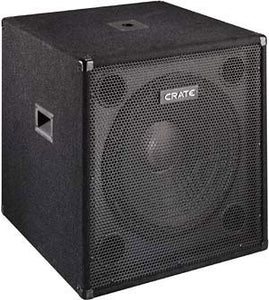 "Shop online for Crate P115S 15"" Passive Subwoofer today.  Now available for purchase from Midlothian Music of Orland Park, Illinois, USA"