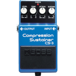 Shop online for Boss CS-3 Compression Sustainer today. Now available for purchase from Midlothian Music of Orland Park, Illinois, USA