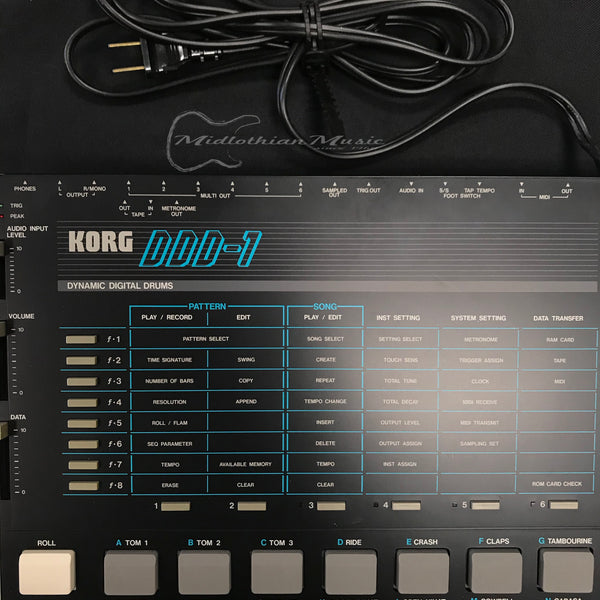 Korg DDD-1 Dynamic Digital Drums Vintage Sequencer & Sampling Drum Machine