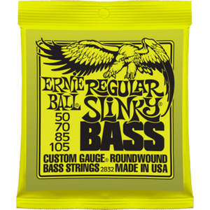 Shop online for Ernie Ball Regular Slinky Nickel Roundwound Electric Bass Strings today.  Now available for purchase from Midlothian Music of Orland Park, Illinois, USA
