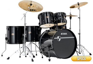 Tama IS62BKCHBK 6-pc. Drum Kit Black w/Meinl Cymbals