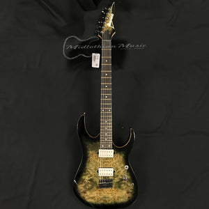 Ibanez RG1121PBCKB Premium Electric Guitar Charcoal Black Burst