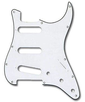 Shop online for Fender 3 Ply White Pickguard For Strat P/N 099-1369-000 today.  Now available for purchase from Midlothian Music of Orland Park, Illinois, USA