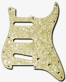 Shop online for Fender Aged White Moto 4 Ply Pickguard P/N 099-2140-001 today.  Now available for purchase from Midlothian Music of Orland Park, Illinois, USA