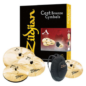 Shop online for Zildjian A20579-11 A Custom Cymbal Set 5 Piece today.  Now available for purchase from Midlothian Music of Orland Park, Illinois, USA