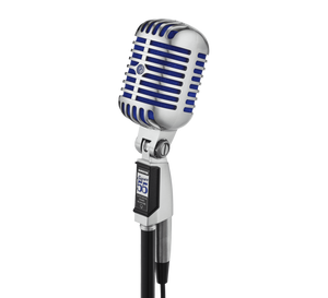 Shop online for Shure Super 55 Supercardioid Dynamic Deluxe Vocal Microphone today. Now available for purchase from Midlothian Music of Orland Park, Illinois, USA