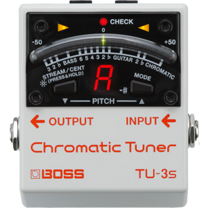 Shop online for Boss TU-3S Guitar Pedal Tuner today.  Now available for purchase from Midlothian Music of Orland Park, Illinois, USA