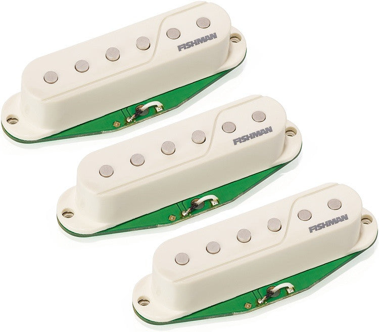 Fishman Fluence White Single Coil Pickups for Strat PRF-STR-BK3