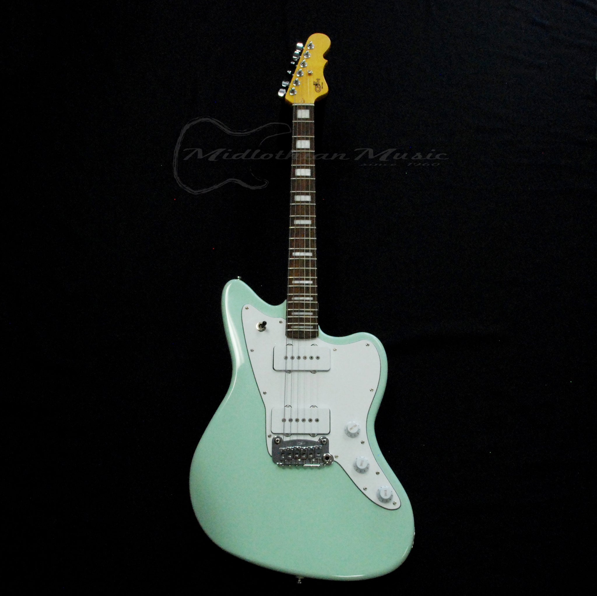 Shop online for G&L Tribute Doheny Surf Green 180311248 today.  Now available for purchase from Midlothian Music of Orland Park, Illinois, USA