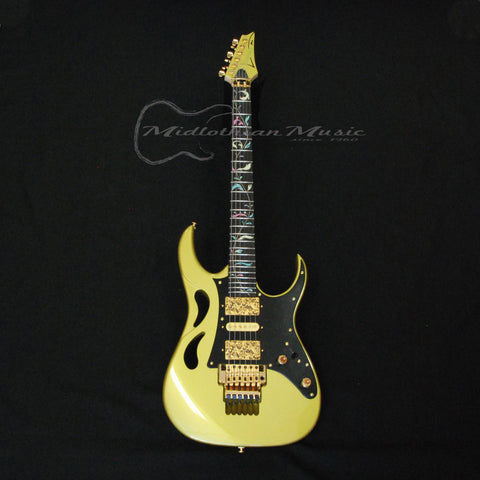 Shop online for Ibanez PIA3761 Limited Edition Steve Vai Signature Electric Guitar Sun Dew Gold today.  Now available for purchase from Midlothian Music of Orland Park, Illinois, USA