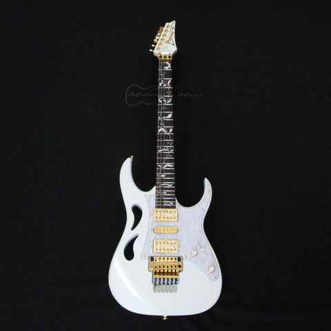 Shop online for Ibanez PIA3761 Limited Edition Steve Vai Signature Electric Guitar Stallion White today.  Now available for purchase from Midlothian Music of Orland Park, Illinois, USA