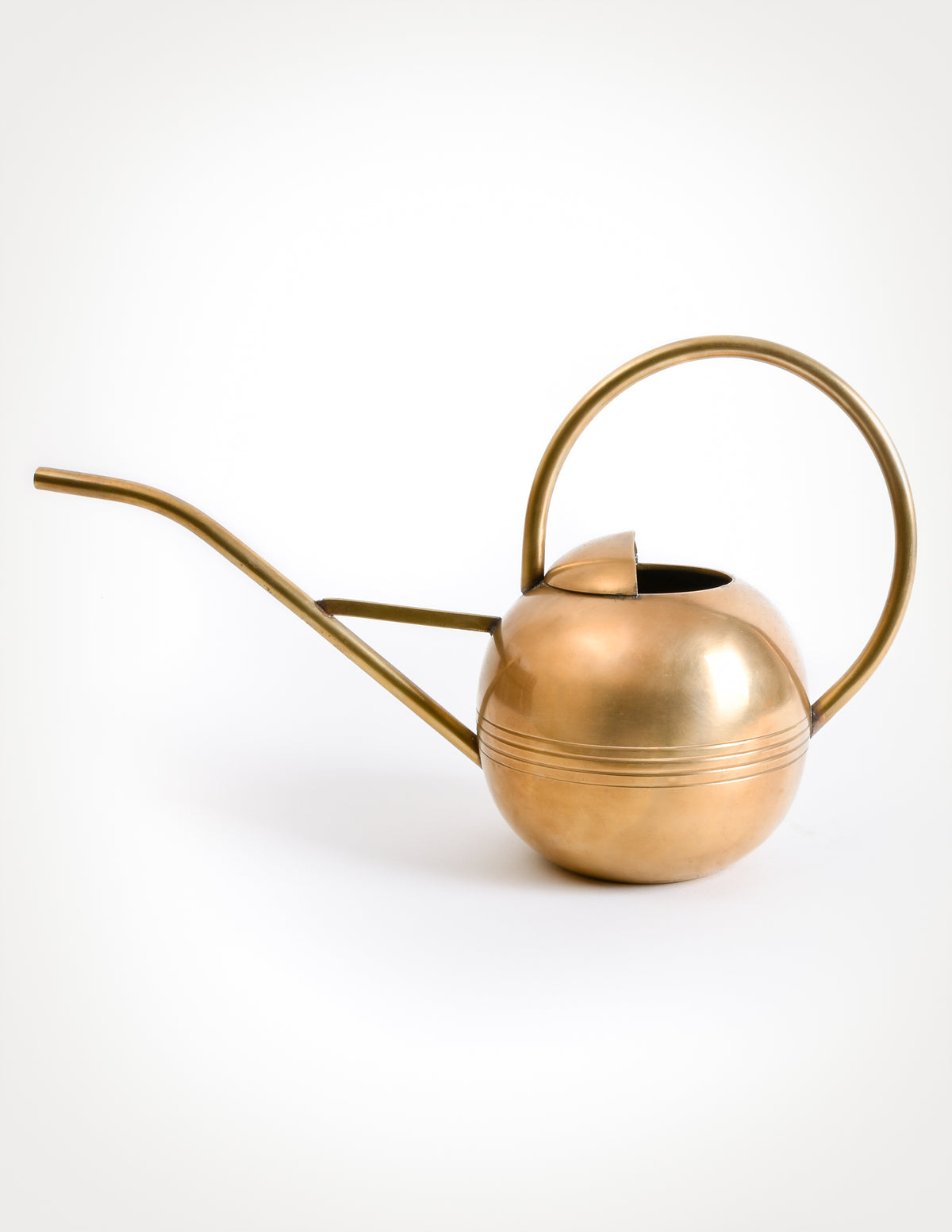 indoor use vintage Brass plated watering can