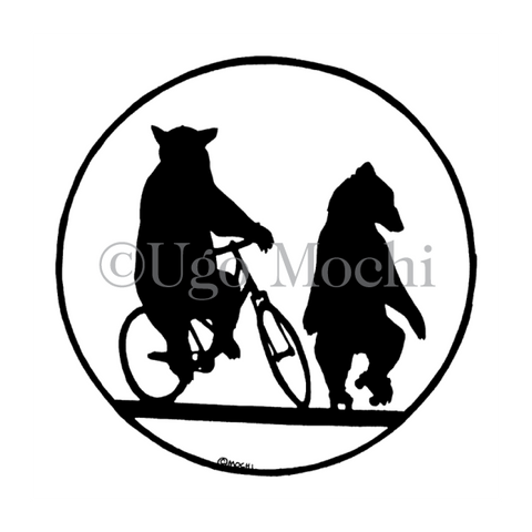 Bears Riding Bicycles