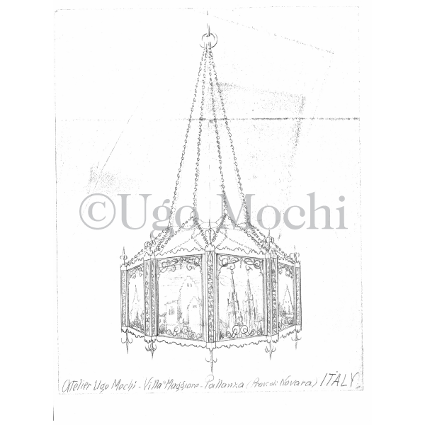 Original Chandelier Design Drawing