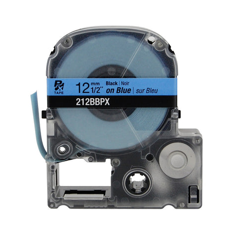 "Epson/K-Sun 1/2"" Black on Blue Tape - 212BBPX"
