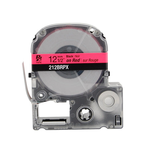 "Epson/K-Sun 1/2"" Black on Red Tape - 212BRPX"