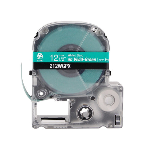 "Epson/K-Sun 1/2"" White on Green Tape - 212WGPX"