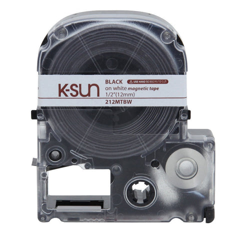 "K-Sun 1/2"" Black on White ""Magnet"" Tape - 212MTBW"