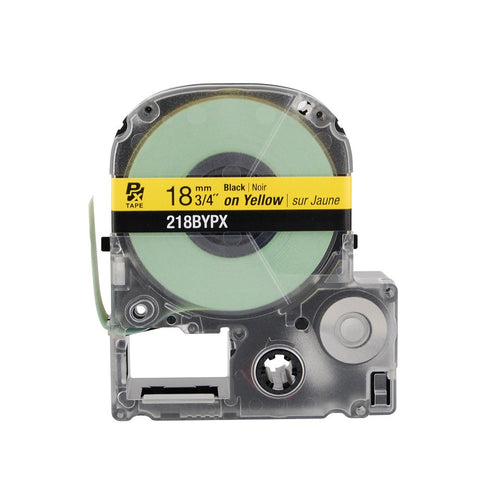 "Epson/K-Sun 3/4"" Black on Yellow Tape - 218BYPX"