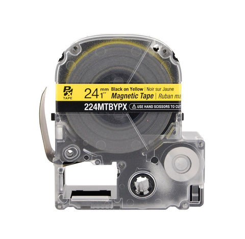 "Epson 1"" Black on Yellow ""Magnet"" Tape - 224MTBYPX"