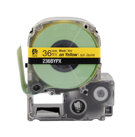 "Epson 1-1/2"" Black on Yellow Tape - 236BYPX"