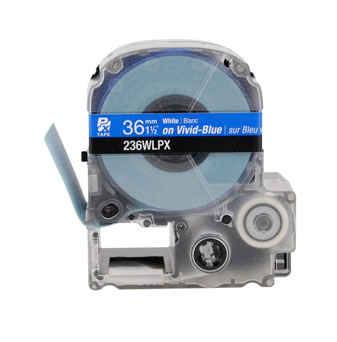 "Epson 1-1/2"" White on Blue Tape - 236WLPX"