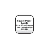 Brother White Square Paper Labels - DK1221