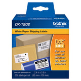 Brother White Shipping Paper Labels - DK1202