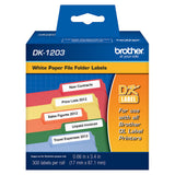 Brother White File Folder Paper Labels - DK1203