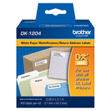 Brother White Multi-Purpose/Return Address Paper Labels - DK1204