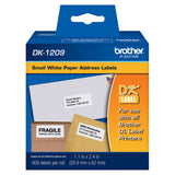 Brother White Small Address Paper Labels - DK1209
