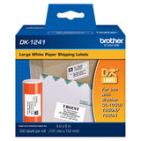 Brother White Large Shipping Paper Labels - DK1241